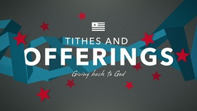 patriotic ribbons tithes and offerings title graphics igniter