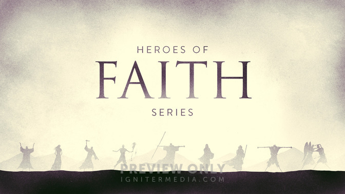 Heroes of Faith - Title Graphics | Igniter Media