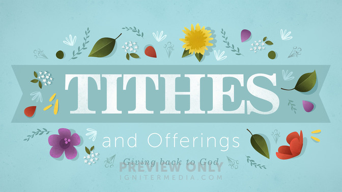 floral motif tithes and offerings title graphics igniter media
